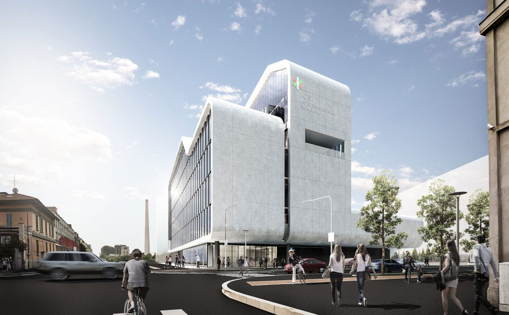 ICS School Milano Via Ortles, render: Barreca & La Varra - http://barrecaelavarra.it